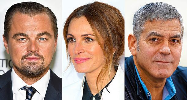 Di Caprió, Julia Roberts és George Clooney