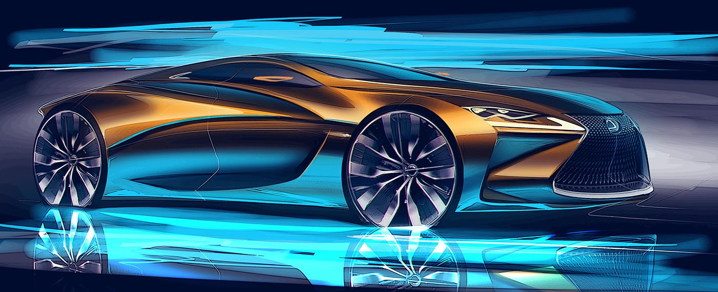 Lexus LC ötajtós tanulmány