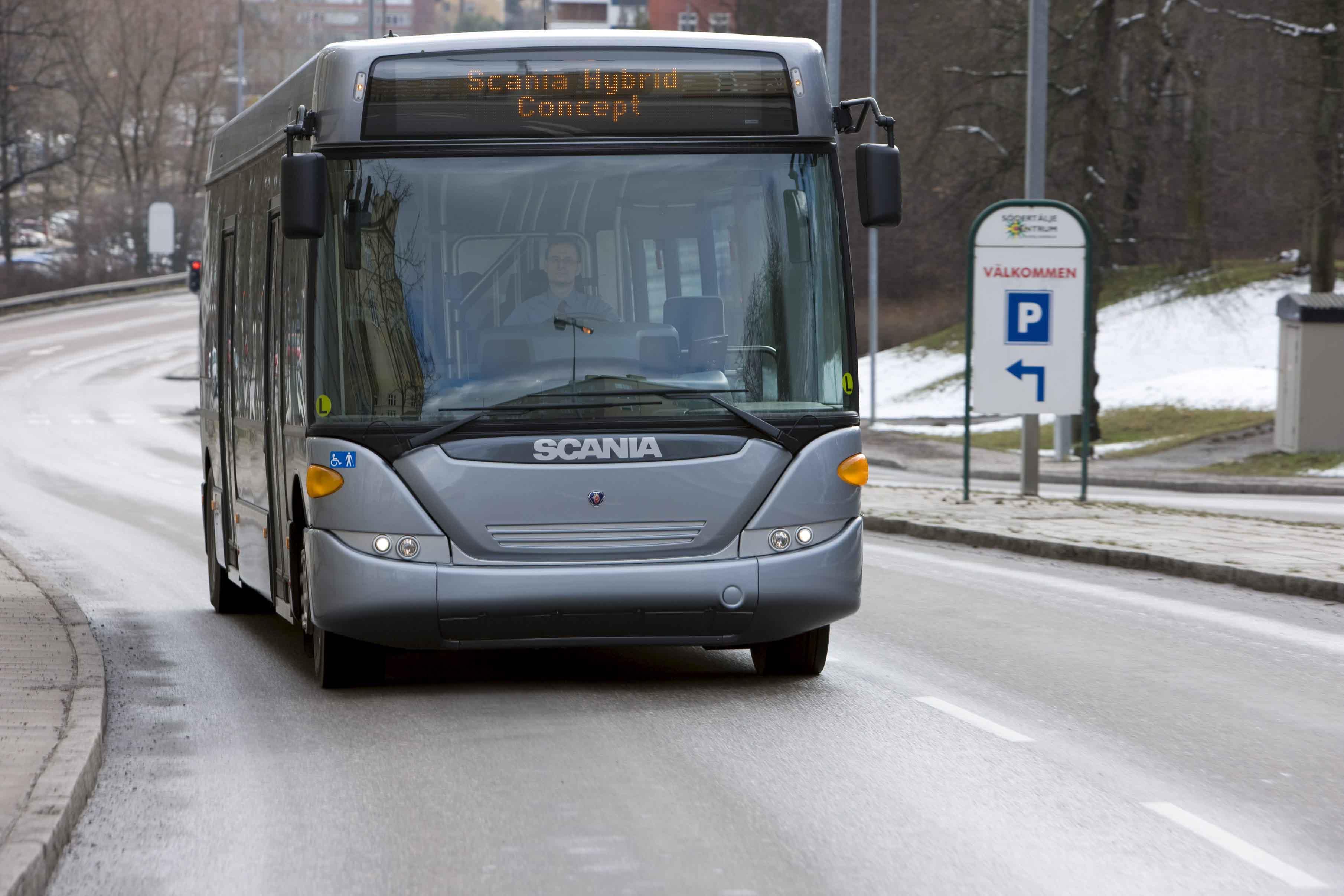 Scania hibrid buszok
