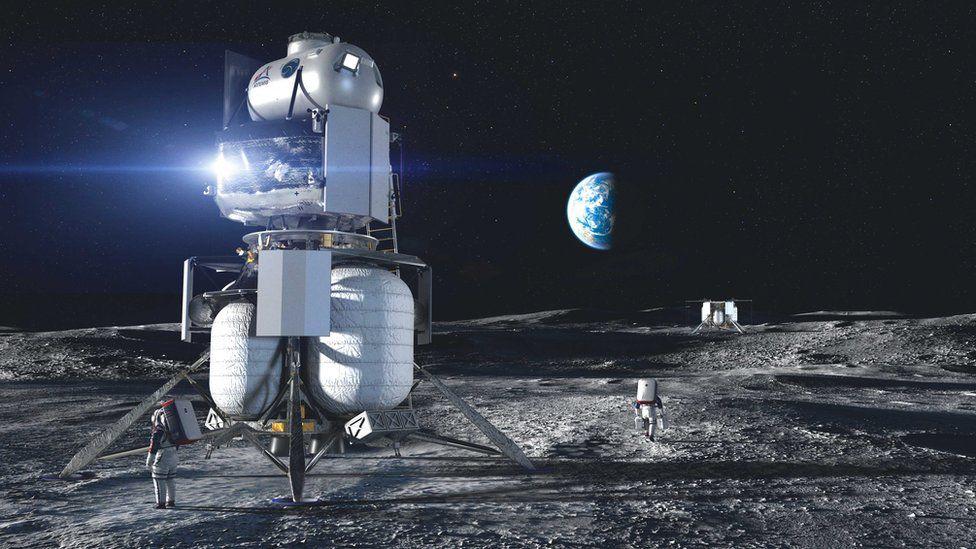 Szénkibocsátás a Holdon